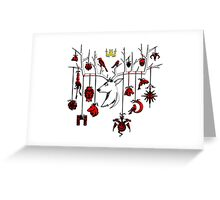 Games Of Throne Amazing Art Greeting Card
