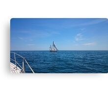 Sailing Atlantic Ocean Canvas Print