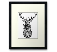 Animal Heads Framed Print