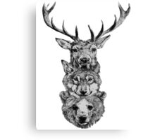 Animal Heads Canvas Print