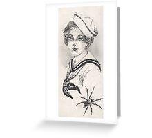 Sailor Girl & Spider print Greeting Card