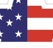 AMERICAN, STAR, Stars & Stripes, America, US, USA, on WHITE Sticker