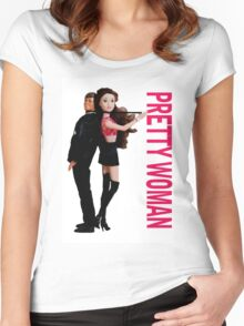 A Plastic World - Pretty Woman Women's Fitted Scoop T-Shirt