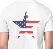 AMERICAN, STAR, Stars & Stripes, America, US, USA, on WHITE Unisex T-Shirt