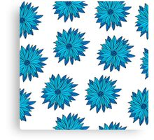 Floral seamless pattern of bright color pretty summer sweet Canvas Print