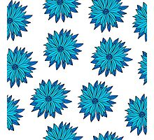 Floral seamless pattern of bright color pretty summer sweet Photographic Print