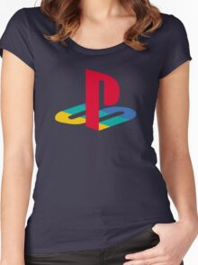 retro game console Women's Fitted Scoop T-Shirt