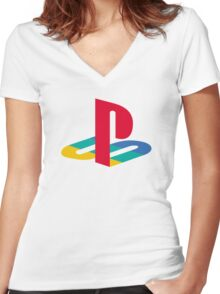 retro game console Women's Fitted V-Neck T-Shirt