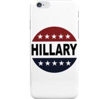 Hillary Clinton 2016 Retro Vote Button Womens Shirt iPhone Case/Skin