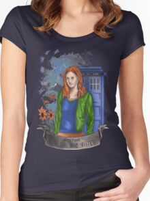 The girl WHO waited. Women's Fitted Scoop T-Shirt