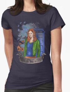 The girl WHO waited. Womens Fitted T-Shirt