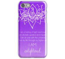 Crown Chakra Affirmation iPhone Case/Skin