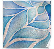 Blue Mosaic Detail Poster