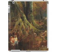 Thomas Moran - Slave Hunt. Forest view: forest , trees,  fauna, nature, birds, animals, flora, flowers, plants, field, weekend iPad Case/Skin