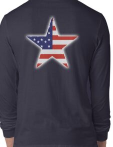 AMERICAN, STAR, Stars & Stripes, America, US, USA, on BLACK Long Sleeve T-Shirt