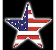 AMERICAN, STAR, Stars & Stripes, America, US, USA, on BLACK Photographic Print