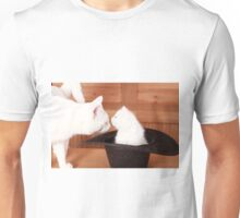 Kitty Kissing Daddy Cat Unisex T-Shirt