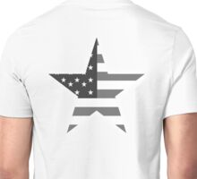 AMERICAN, STAR, Stars & Stripes, America, US, USA, Black on White Unisex T-Shirt