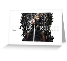 Games Of Throne The Legend Greeting Card