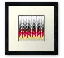 pattern of triangle Framed Print