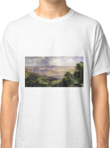 Thomas Moran - Valley Of Cuernavaca 1903. Mountains landscape: mountains, rocks, rocky nature, sky and clouds, trees, peak, forest, rustic, hill, travel, hillside Classic T-Shirt