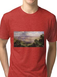 Thomas Moran - Valley Of Cuernavaca 1903. Mountains landscape: mountains, rocks, rocky nature, sky and clouds, trees, peak, forest, rustic, hill, travel, hillside Tri-blend T-Shirt