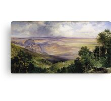 Thomas Moran - Valley Of Cuernavaca 1903. Mountains landscape: mountains, rocks, rocky nature, sky and clouds, trees, peak, forest, rustic, hill, travel, hillside Canvas Print