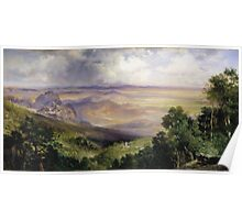 Thomas Moran - Valley Of Cuernavaca 1903. Mountains landscape: mountains, rocks, rocky nature, sky and clouds, trees, peak, forest, rustic, hill, travel, hillside Poster