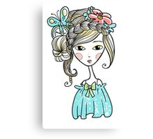 Cute girl Canvas Print