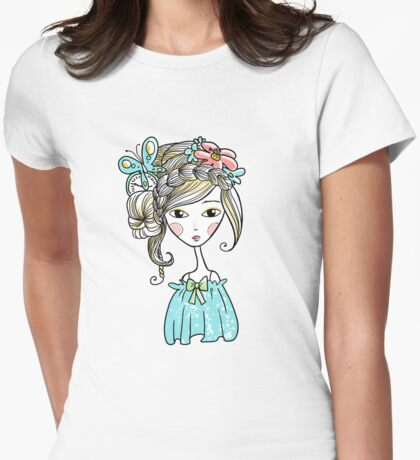Cute girl Womens Fitted T-Shirt
