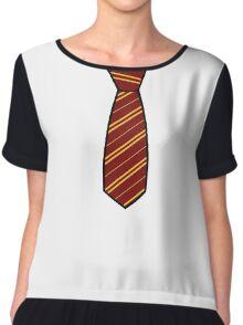 Gryffindor-Tie Chiffon Top