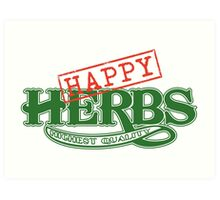 Happy Herbs Art Print