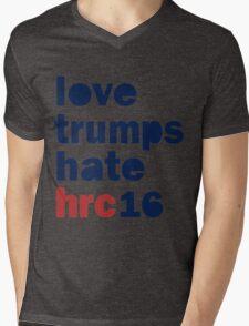 Womens Hillary 2016 shirt - Love Trumps Hate Hillary Womens Shirt Mens V-Neck T-Shirt