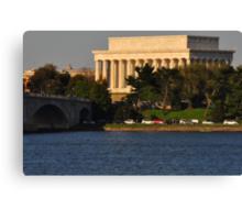 Lincoln from across the Potomac Canvas Print