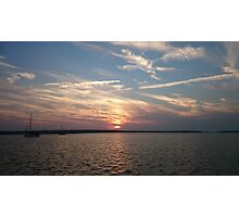 Sunset at Sandy Hook Photographic Print