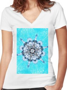 Turquoise dream within a dream Women's Fitted V-Neck T-Shirt