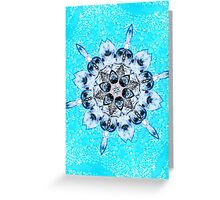 Turquoise dream within a dream Greeting Card