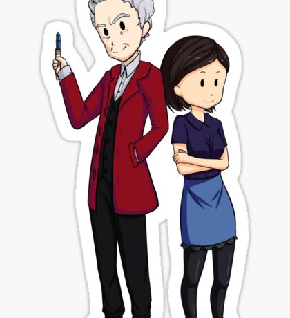 Clara and 12th doctor Sticker