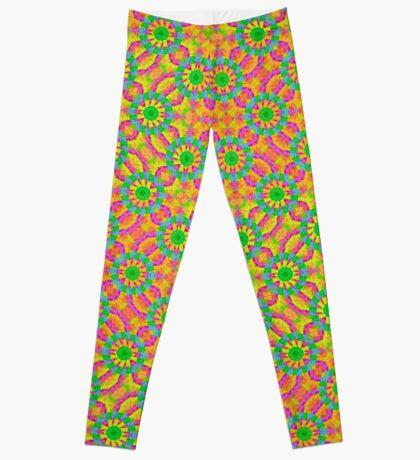Modern Colorful Geometric Leggings