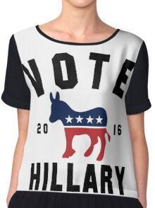Vintage Vote Hillary Clinton 2016 Womens Shirt Chiffon Top