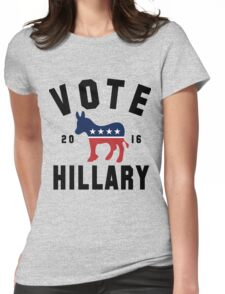 Vintage Vote Hillary Clinton 2016 Womens Shirt Womens Fitted T-Shirt