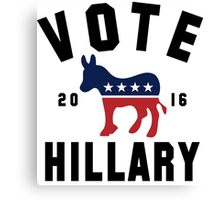 Vintage Vote Hillary Clinton 2016 Womens Shirt Canvas Print