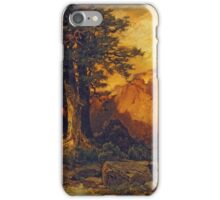 Thomas Moran - The Grand Canyon. Mountains landscape: mountains, rocks, rocky nature, sky and clouds, trees, peak, forest, rustic, hill, travel, hillside iPhone Case/Skin