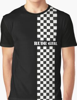 Rude Girl - Two Tone Graphic T-Shirt