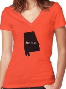 Alabama is where I call home. Women's Fitted V-Neck T-Shirt