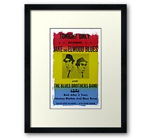 The Blues Brothers Concert Poster Framed Print