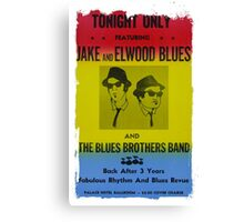 The Blues Brothers Concert Poster Canvas Print