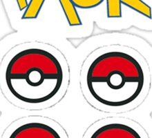 Pokeball 6 pack Sticker