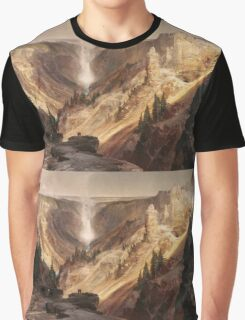 Thomas Moran - The Grand Canyon Of The Yellowstone . Mountains landscape: mountains, rocks, rocky nature, sky and clouds, trees, peak, forest, rustic, hill, travel, hillside Graphic T-Shirt
