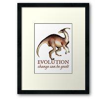 Evolution Humor Framed Print